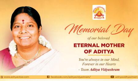 Memorial day of our beloved Eternal Mother of Aditya.
